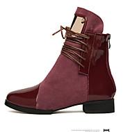 샌달 / 펌프스/힐 / 부츠 / 패션 스니커즈 / 로퍼-웨딩 / 사무실 & 커리어 / 드레스 / 캐쥬얼 / 파티/이브닝-여성의 신발-힐 / 컴포트 / 노블티 / 보트 / 베이직 펌프스-레더렛-낮은 굽-블랙 / 버건디