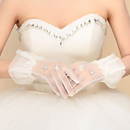 cheap Wedding Gloves-Nylon Wrist Length Glove Bridal Gloves Party/ Evening Gloves With Sequin