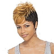 Popular Stylish Party Wig Mix Color Short Curly Synthetic Hair Wig Cosplay Wigs