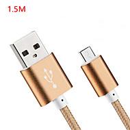 USB 2.0 Hagyományos Kábel Kompatibilitás Huawei Sony Nokia HTC Motorola LG Lenovo Xiaomi 150 cm Nejlon