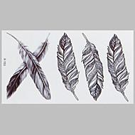 halpa -muoti tatuointi sulka vedenpitävä tatuointi tarroja