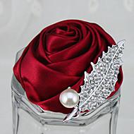 """Χαμηλού Κόστους Λουλούδια-Λουλούδια Γάμου Μπουτονιέρες Γάμου Πάρτι / Βράδυ Στρας Πολυεστέρας Σατέν Αφρός 2,36 """" (περίπου 6εκ)"""