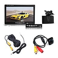"""7 """"TFT LCD monitorem auto + zadní pohled záložní noční vidění parkovací kamera kit"""