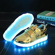 baratos Sapatos de Menino-Para Meninos / Para Meninas Sapatos Sintético / Tule Primavera / Outono Conforto / Inovador Tênis Franzido para Prateado / Dourado