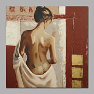Handgeschilderde Abstract / Mensen / NaaktModern Eén paneel Canvas Hang-geschilderd olieverfschilderij For Huisdecoratie
