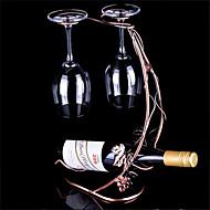 יין בקבוק מתכת מחזיק יין בציר חדש כוסות זכוכית מתל גפן תלויות כלי בר בעל לבו