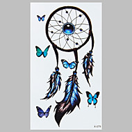 partysu blauwe vlinder indian dreamcatcher fashion waterdichte tattoo stickers