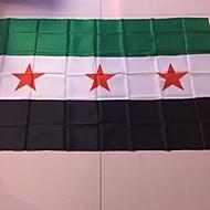 (旗竿なし)新しいシリア国旗SYRシリアフラグSY 1個 shoピンg逃れて90 * 150センチメートル