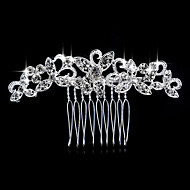 cheap Wedding Headpieces-Pearl Crystal Rhinestone Alloy Hair Combs Headpiece Elegant Style