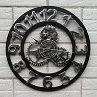 cheap Wall Clocks-Modern/Contemporary Retro Office/Business Iron Round Indoor/Outdoor,AA Wall Clock
