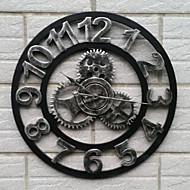 europeisk stil vintage jern mute vegg klokke frisk stil (sølvfarget farge)