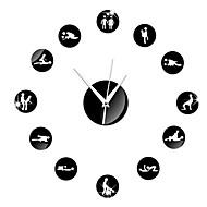 Rund Moderne / Nutidig Wall Clock,Familie Andre 15*15*3 cm (5.91*5.91*1.18 inch)