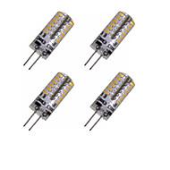 billige Bi-pin lamper med LED-2W G4 LED-kornpærer MR11 48 leds SMD 3014 Dekorativ Varm hvit Kjølig hvit 150-200lm 3000-3500 6000-6500K DC 12 AC 220-240 AC 12V