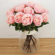 1 분기 실크 장미 탁상 꽃 인공 꽃
