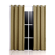 Rod Pocket Grommet Top Tab Top Double Pleat Pencil Pleat Two Panels Curtain European Country Modern Neoclassical Mediterranean , Print