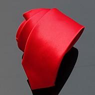 Pánské Vintage Party Celý rok Kravata,Jednolitý Polyester Fialová Hnědá Červená Růžová Fialová