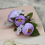"cheap Flowers-Wedding Flowers Wrist Corsages Wedding Party / Evening Silk Cotton 1.18""(Approx.3cm)"