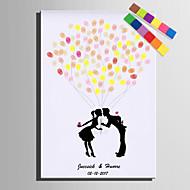 E-home® kişiselleştirilmiş parmak izi tuvaller baskılar - balonu altında öpücük (12 mürekkep fcolors içerir)