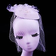 チュール 人造真珠 ラインストーン 綿ネル ネット ヘッドドレス かぶと