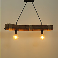 hamp bambus rørlampe droplight restaurant bordlampe høy kvalitet