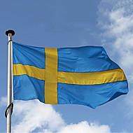 スウェーデンフラグ3 * 5フィート.ポリエステルflag.90 * 150バナー. (旗竿なし)ビッグフラッグバナー、スウェーデンフラグバナー