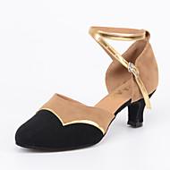 billige Moderne sko-Dame Moderne sko Velourisert Sandaler / Høye hæler Spenne Kustomisert hæl Kan spesialtilpasses Dansesko Svart / Innendørs