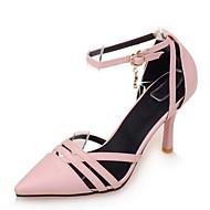 baratos Sapatos de Tamanho Pequeno-Mulheres Sapatos Courino Primavera / Verão D'Orsay Salto Agulha Preto / Bege / Rosa claro / Social