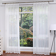 cheap Sheer Curtains-Sheer Curtains Shades Living Room Solid Colored Polyester Print