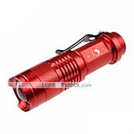 U'King ZQ-X904 Lanternas LED LED 700lm lm 3 Modo Cree XR-E Q5 Cree XP-E R2 Zoomable Mini Foco Ajustável Superfície Antiderrapante Bolso