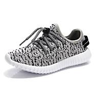 Jongens Sneakers Comfortabel Tule Lente Herfst Comfortabel Veters Platte hak Zwart Grijs Roze Onder 2,5cm