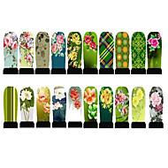 20pcs Neglekunst Klistermærke Vandoverførende decals 3D Negle Stickere Blomst Makeup Kosmetik Neglekunst Design