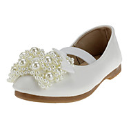 cheap Girls' Shoes-Girls' Shoes Leatherette Fabric Spring Fall Comfort Flats Crystal Bowknot Imitation Pearl For Wedding Casual Outdoor Dress Party & Evening