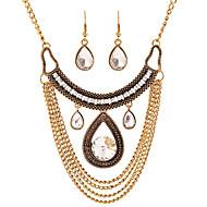 Smykkesæt Glas Legering Mode erklæring smykker Dråbe Guld Sølv Halskæde / Øreringe Fest Daglig Afslappet 1 Sæt Halskæder Øreringe