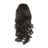 14 inch Black Drawstring Curly Ponytails Elastic Synthetic Hair Piece Hair Extension