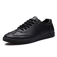 baratos Sapatos Masculinos-Homens Couro Ecológico Primavera / Verão / Outono Conforto Tênis Branco / Preto / Festas & Noite