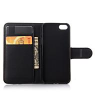 Para iPhone 8 iPhone 8 Plus iPhone 6 iPhone 6 Plus Case Tampa Carteira Porta-Cartão Com Suporte Flip Corpo Inteiro Capinha Côr Sólida