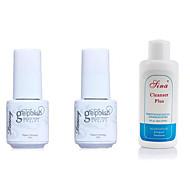 Χαμηλού Κόστους YeManNvYou®-Βερνίκι νυχιών UV Gel 5ml+5ml+60ml 3 pcs Ελαφρύ παλτό / Βασική επίστρωση / Κλασσικό Ενυδατώστε μακριά Διαρκείας Καθημερινά Ελαφρύ παλτό / Βασική επίστρωση / Κλασσικό