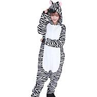 preiswerte Grosse Aktion für Spielzeug und Hobbys-Kigurumi-Pyjamas Zebra Pyjamas-Einteiler Kostüm Flanell Vlies Schwarz/Weiß Cosplay Für Erwachsene Tiernachtwäsche Karikatur Halloween