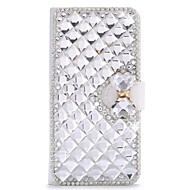 billiga Mobil cases & Skärmskydd-fodral Till Huawei Honor 4X / huawei Y550 / huawei G7 P8 Lite / P8 / Huawei-fodral Strass / med stativ / Lucka Fodral Enfärgad Hårt PU läder för Huawei P8 Lite / Huawei P8 / Huawei P7
