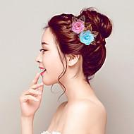 お買い得  ウェディング髪飾り-ファブリック フラワー  -  フラワーズ 帽子 ヘアークリップ 1個 結婚式 パーティー かぶと