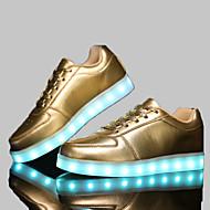 baratos Sapatos Femininos-Homens / Mulheres Sapatos Sintético Primavera / Outono Conforto Sem Salto Velcro Branco / Preto