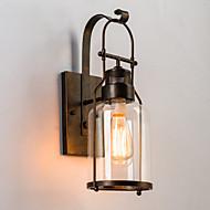 baratos Arandelas de Parede-Rústico / Campestre Luminárias de parede Metal Luz de parede 220V / 110V 60W