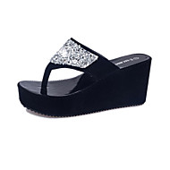 Women's Shoes Leatherette Summer Creepers Platform Crystal For Casual Outdoor White Black