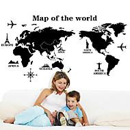 billiga Väggklistermärken-Dekrativa Väggstickers - Map Wall Stickers Landskap / Stilleben / Mode Vardagsrum / Sovrum / Matsalsrum / Kan tas bort