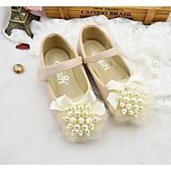 baratos Sapatos de Menina-Para Meninas Sapatos Microfibra Primavera Verão Conforto Rasos para Rosa claro / Ivory