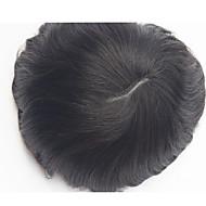 Intian Remy hiukset pu hiuslisäke peruukit korvaaminen v kierroksia ohut iho miesten hiuslisäke