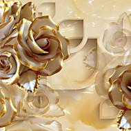 Blomster Tapet til Hjemmet Luksus Tapetsering , Lerret Materiale selvklebende nødvendig Veggmaleri , Tapet