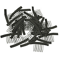 Wig making Accessories, Wig Combs and Clips For Wig Cap,Black Color, Cheap price 10pcs/Lot