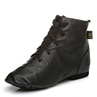 Χαμηλού Κόστους Παπούτσια χορού-Γυναικεία Παπούτσια τζαζ Δέρμα Μπότες Κορδόνια Προσαρμοσμένο τακούνι Εξατομικευμένο Παπούτσια Χορού / Επίδοση