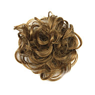 Brown Chignon Hair Bun Synthetic Hair Extension 1 Pc Hair Piece
